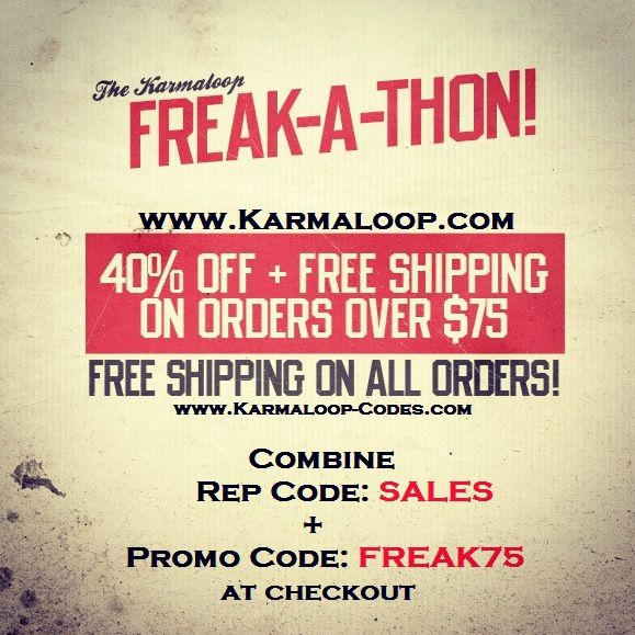 [SALES EXTENDED] Karmaloop.com  41% Off & Free Shipping on orders $75 or more at Karmaloop!  Combine RepCode: SALES & PromoCode: FREAK75.   For more Karmaloop codes, visit http://www.Karmaloop-Codes.com   #karmaloop #discount #freeshipping #40off #coupon #promocode