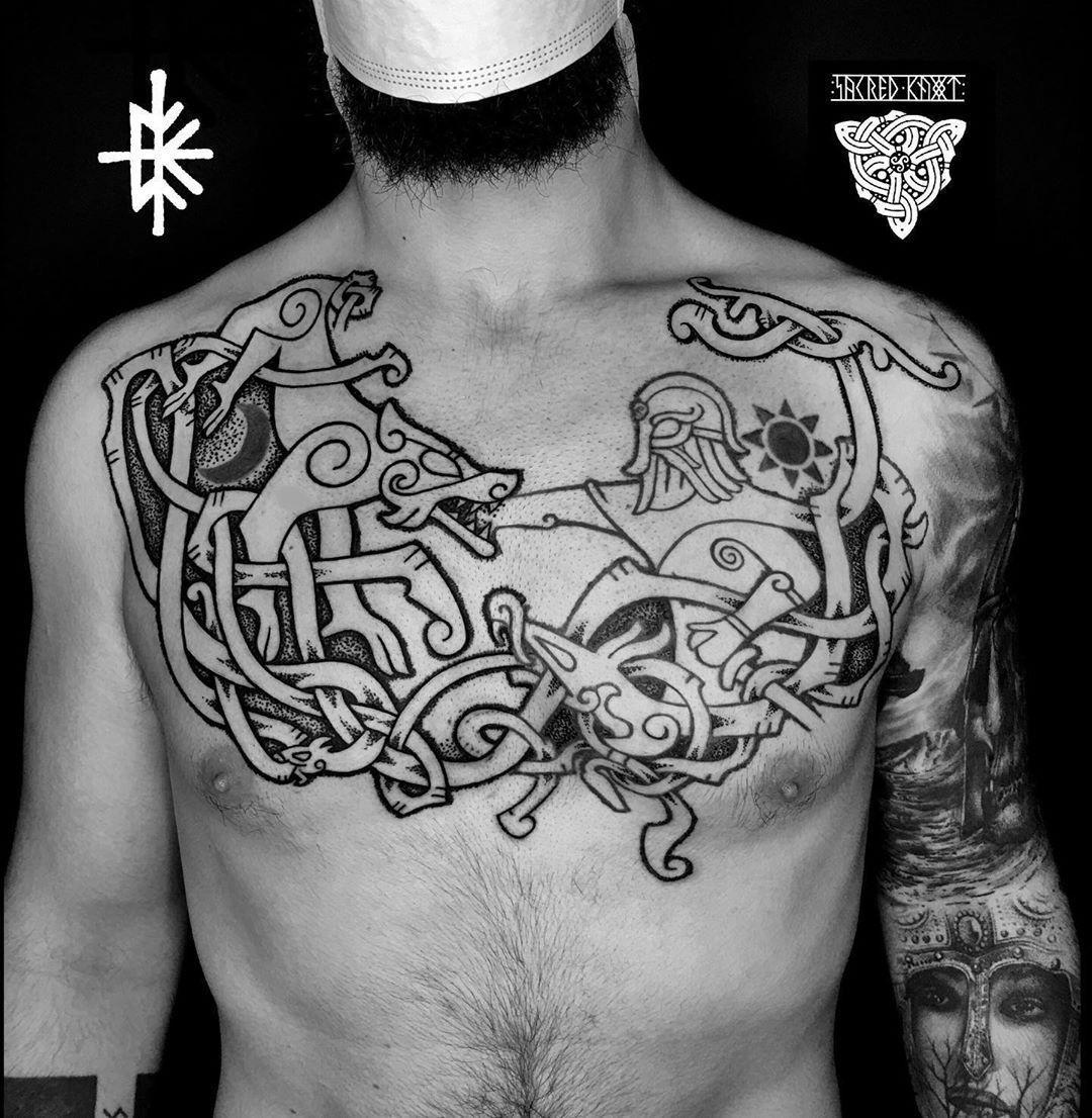 ❌ C O L L A B O R A T I O N ❌ * * Collaboration with the master @sacred_knot_tattoo more coming soon. * * #art #tattoo #nordic #nordictattoo #viking #vikingtattoo #traditional #dot #dotwork #dorworktattoo #dotworker #dotworkers #black #blackwork #blackworker #blackworktattoo #blackworkers #history #tyr #tyrtattoo #fenrir #worlf #worktattoo #pagan #pagantattoo #norse #norsetattoo #vikingo #collaboration #nordicstyle
