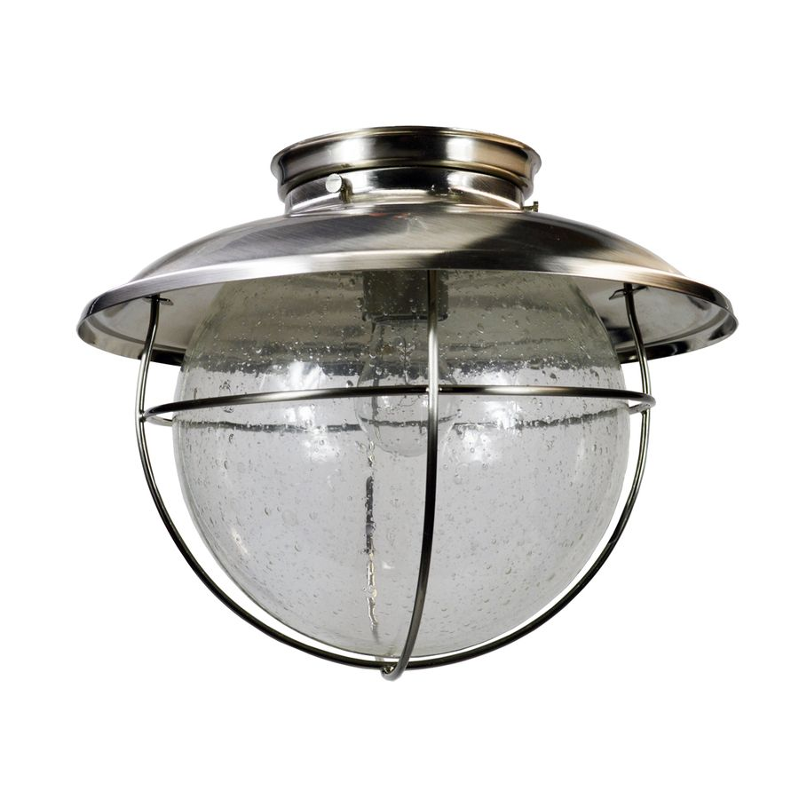 Elight Coastal 11 25 In W Brushed Nickel Outdoor Flush