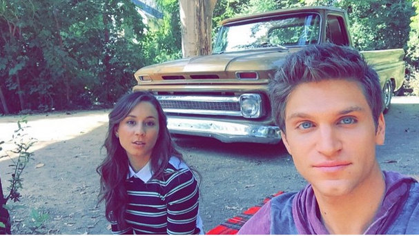 Troian and Keegan out in the woods!