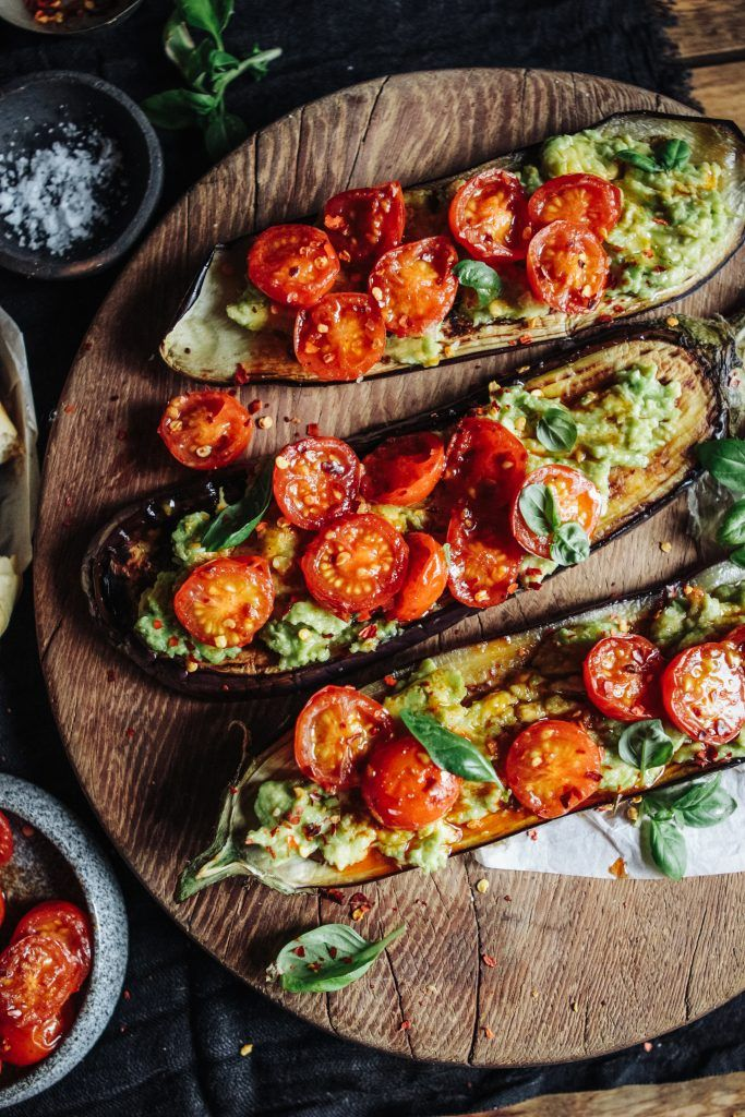 Griddled Aubergine with smashed Avocado & Blistered Tomatoes – Rebel Recipes