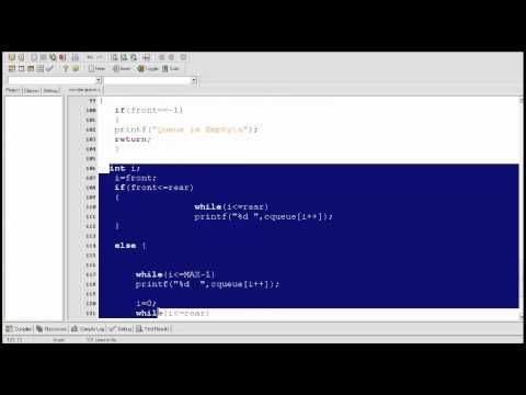 Data structure tutorial 4: Circular Queue explained and c program
