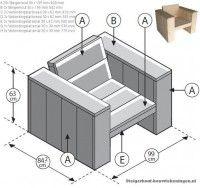 Plan de construction pour une chaise de jardin en bois pour faire ...