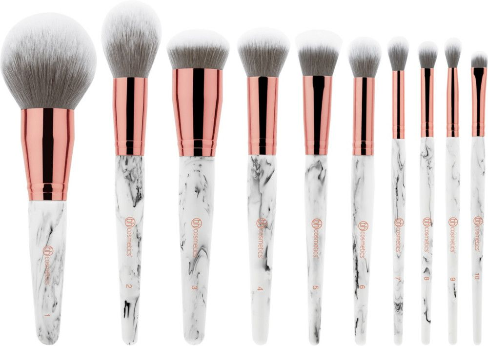 Marble Luxe 10 Pc Brush Set In 2020 Bh Cosmetics Makeup Brush Set Makeup Tools