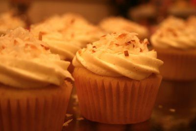 Vanilla Bean Coconut Cupcakes