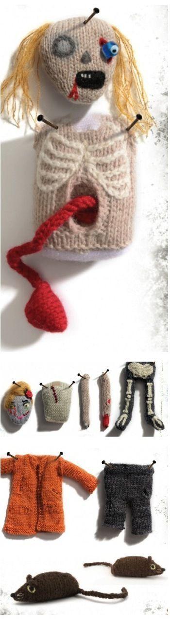 Hello Halloween, Classic Zombie Doll, free knitting pattern | Make ...