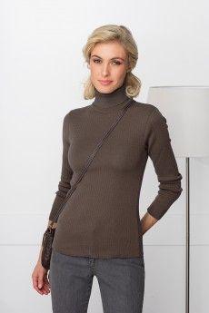 61ac7b3443f7 Le pull chaussette femme en pure laine vierge mérinos. Col roulé pour un  cou au chaud. Tricot fin. Qualité fabrication française.