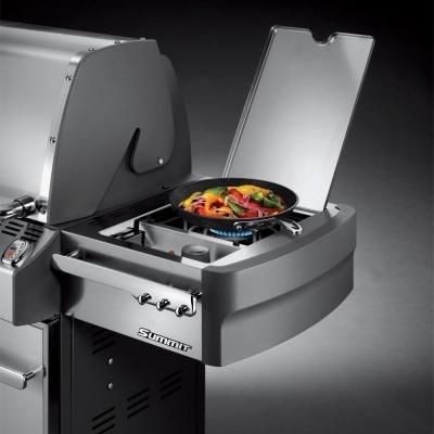 Weber Summit S 670 6 Burner Stainless Steel Natural Gas Grill 7470001 The Home Depot Propane Gas Grill Natural Gas Grill Gas Grill