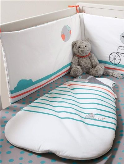 Protector de cuna 'conejito' BIO habitación bebé MARFIL