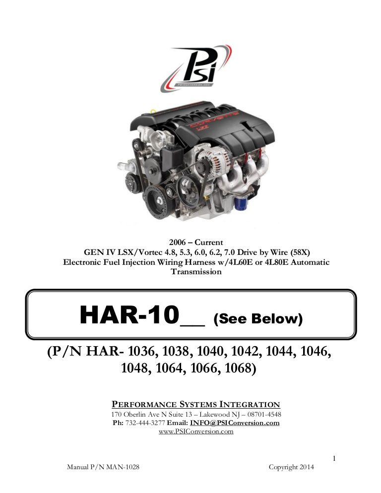 Http Www Slideshare Net Psiconversion Man 1028 Ls2ls3harnessinstructions Wire Ls Engine Harness