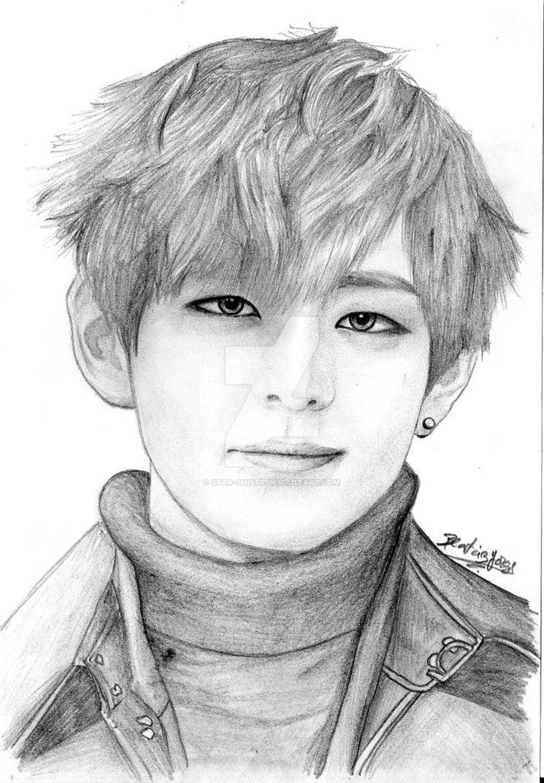 Tae Taehyung Bts V Bts Drawings Drawings Celebrity Drawings