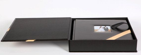 Photo Album With Leather Box Scrapbook Handmade Wedding Quality