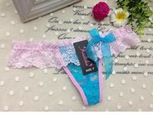 Ladies sexy lace T-thong panty with bow Best Buy follow this link http://shopingayo.space