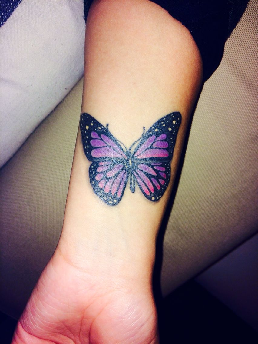 Photo of My purple lupus butterfly – represents hope