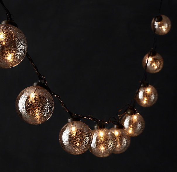 String Lights Restoration Hardware : Vintage Handblown Glass String Lights - Silver - Restoration Hardware Christmas Ideas ...
