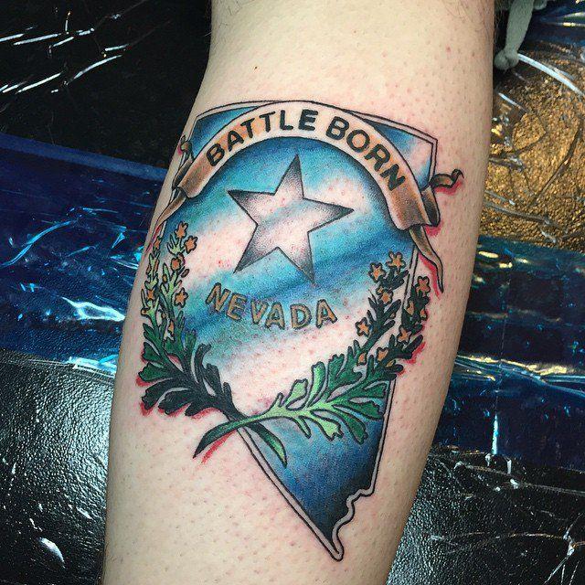 Nevada Tattoos Body Art Tattoos State Tattoos