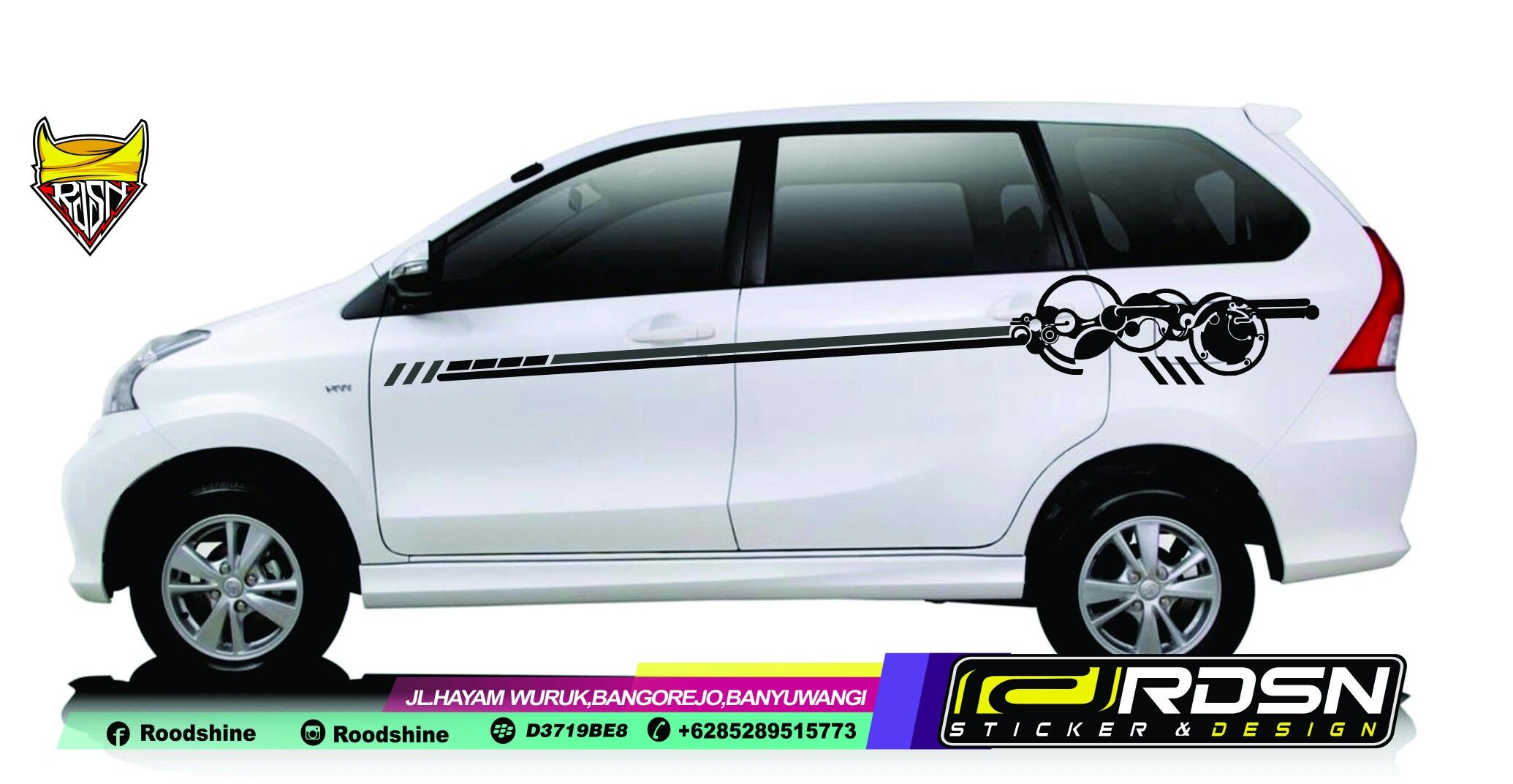 Avanzacuttingsticker Cuttingsticker Avanza Veloz Roodshine