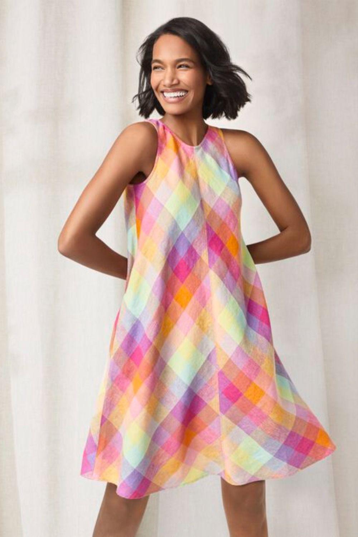 Women S Sleeveless Linen Swing Dress Lands End In 2021 Summer Dress Outfits Swing Dress Summer Dresses [ 1500 x 1000 Pixel ]
