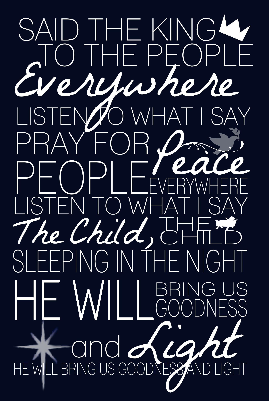 Do You Hear What I Hear? Lyrics #Christmas | Pray for peace, Oh holy night, O holy night