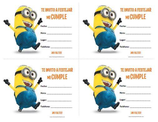 Invitaciones De Minions Para Imprimir Gratis Birthay Party