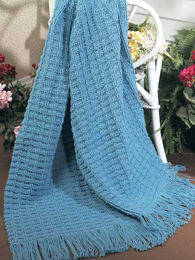 Knitting Textured Textured Cotton Throw Free Knit Afghan
