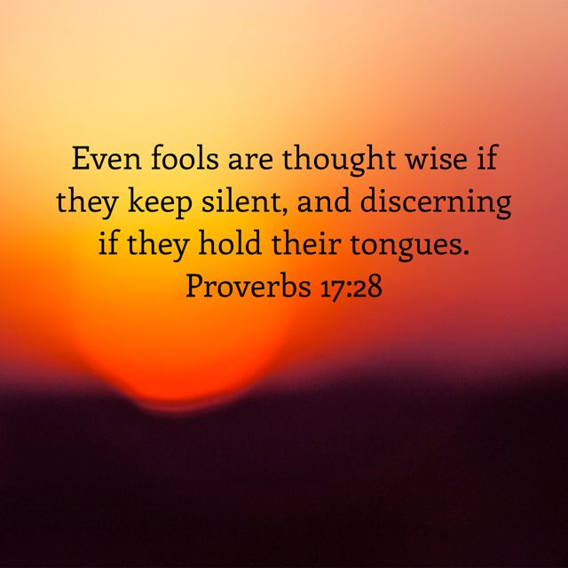Image result for Proverbs 17:28