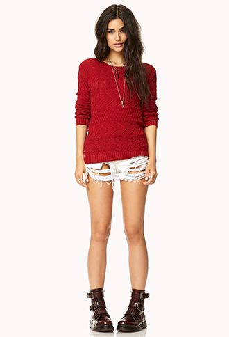 Mix Knit Sweater | FOREVER 21 - 2000049311
