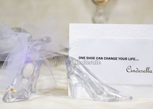 26cd092254b Clear Plastic Slippers Favor (12 Pieces) | for ashley | Glass ...