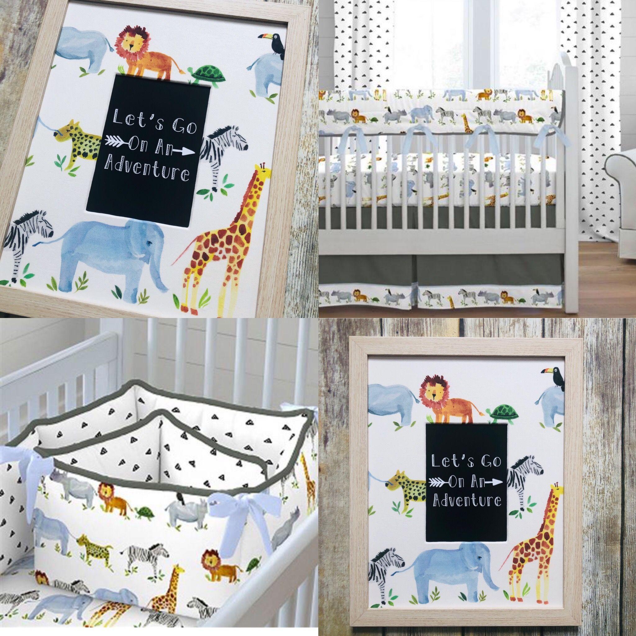 Baby Boy Safari Nursery Wall Decor Jungle Animal Art Etsy Baby Boy Crib Bedding Baby Crib Bedding Sets Baby Bedding Neutral