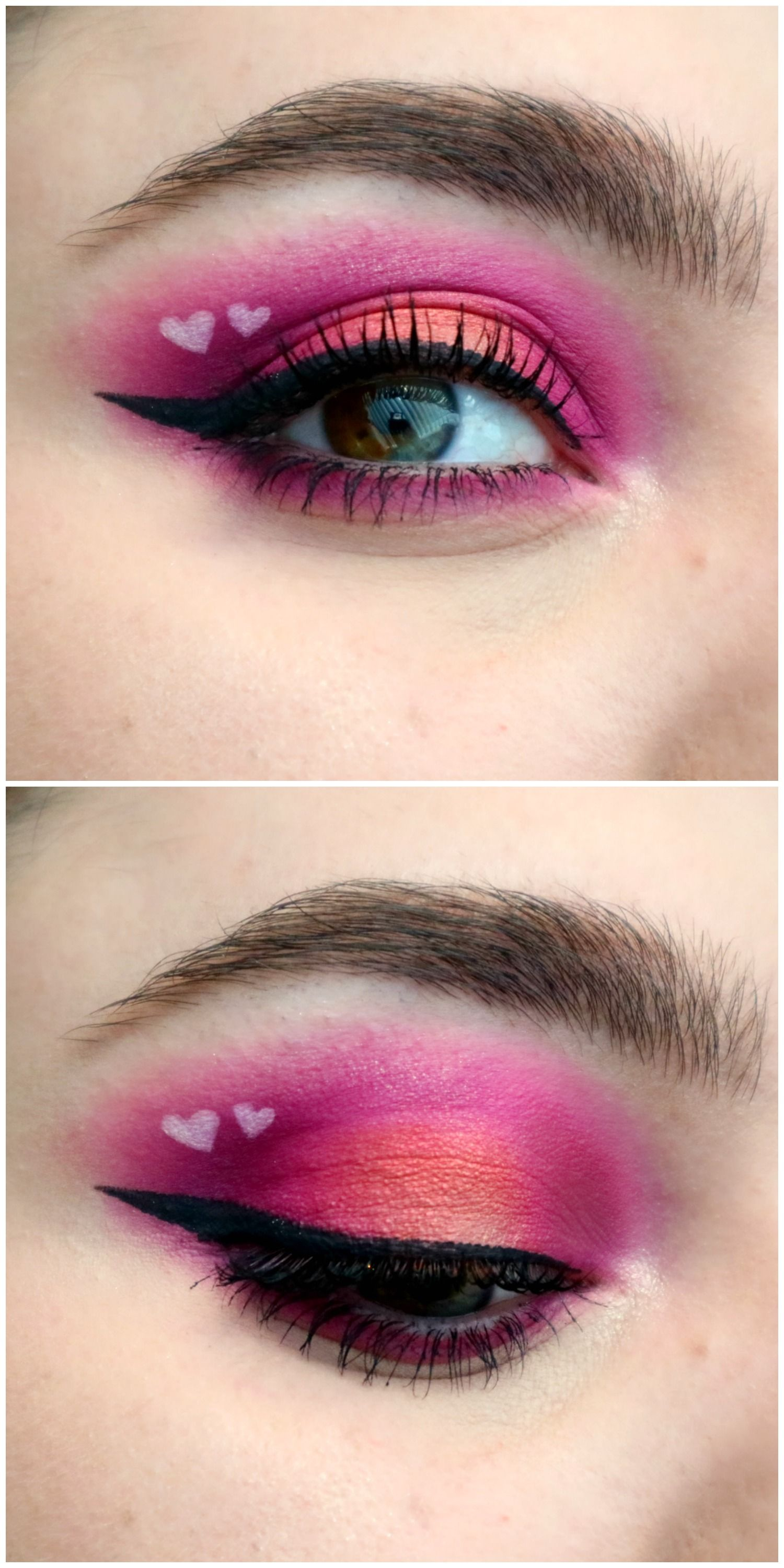 Valentine's Day 2019 makeup pink and gold halo eye with