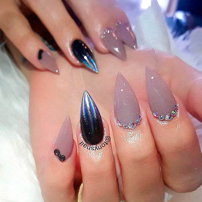 27 Glamorous Stiletto Nail Designs Youll Adore Beauty Nails