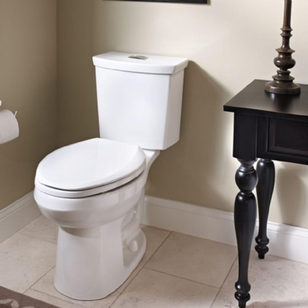 American Standard Cadet 3 Tall Height 2 Piece 1 0 1 6 Gpf Dual Flush Elongated Toilet With Slow Close Seat In White 3380 216st 020 Dual Flush Toilet American Standard Toilet Installation