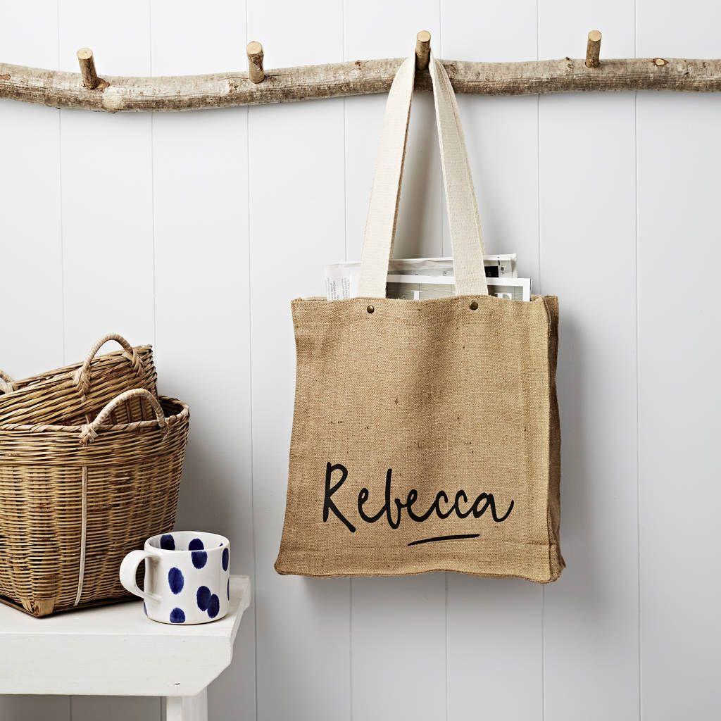 Download Personalised Name Hessian Bag Hessian Personalised Name Hessian Bag Hessian Bags Bags Personalize Bag