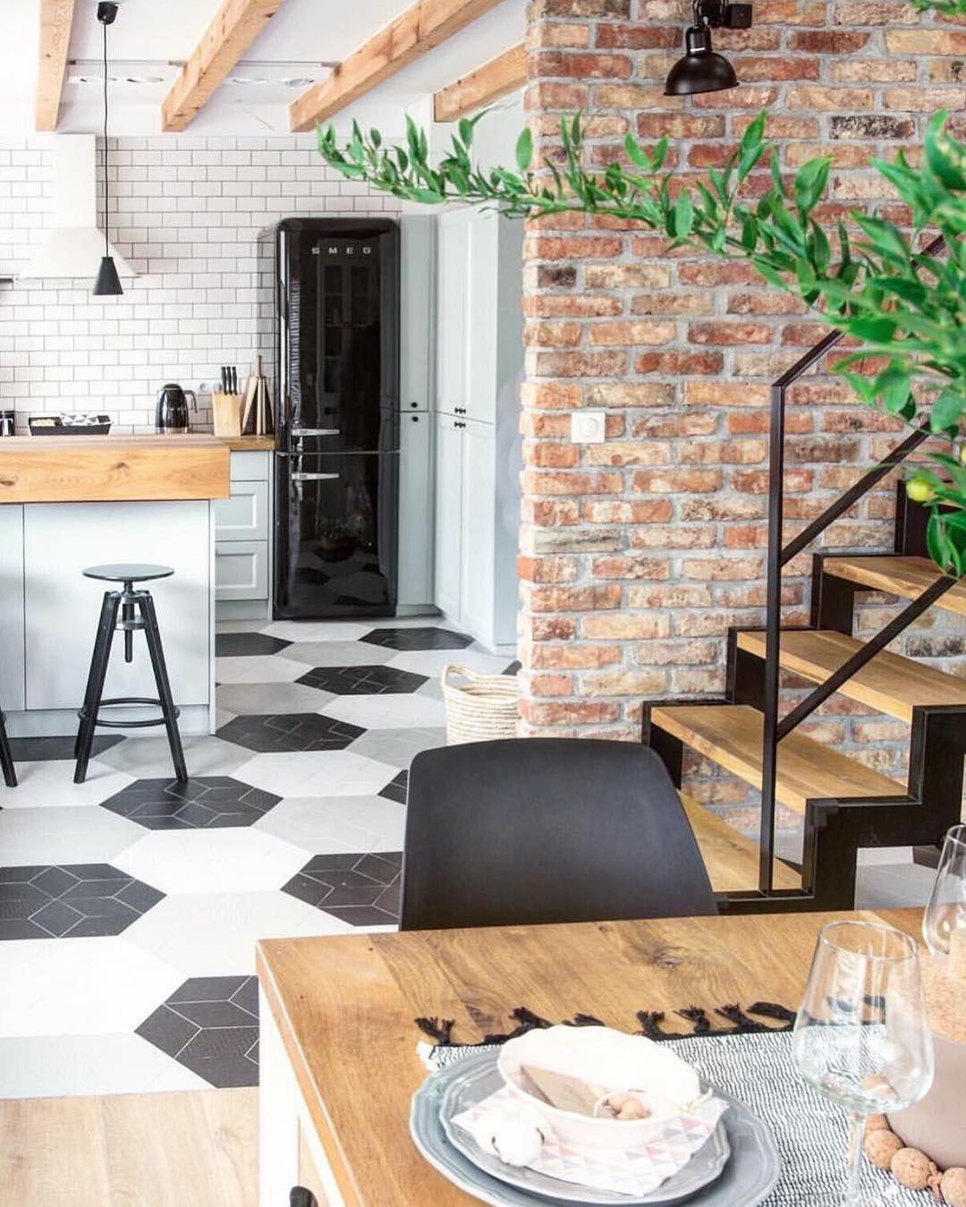 Inspira O Do Dia Pagina O De De Piso E Azulejo De Metro Na Cozinha