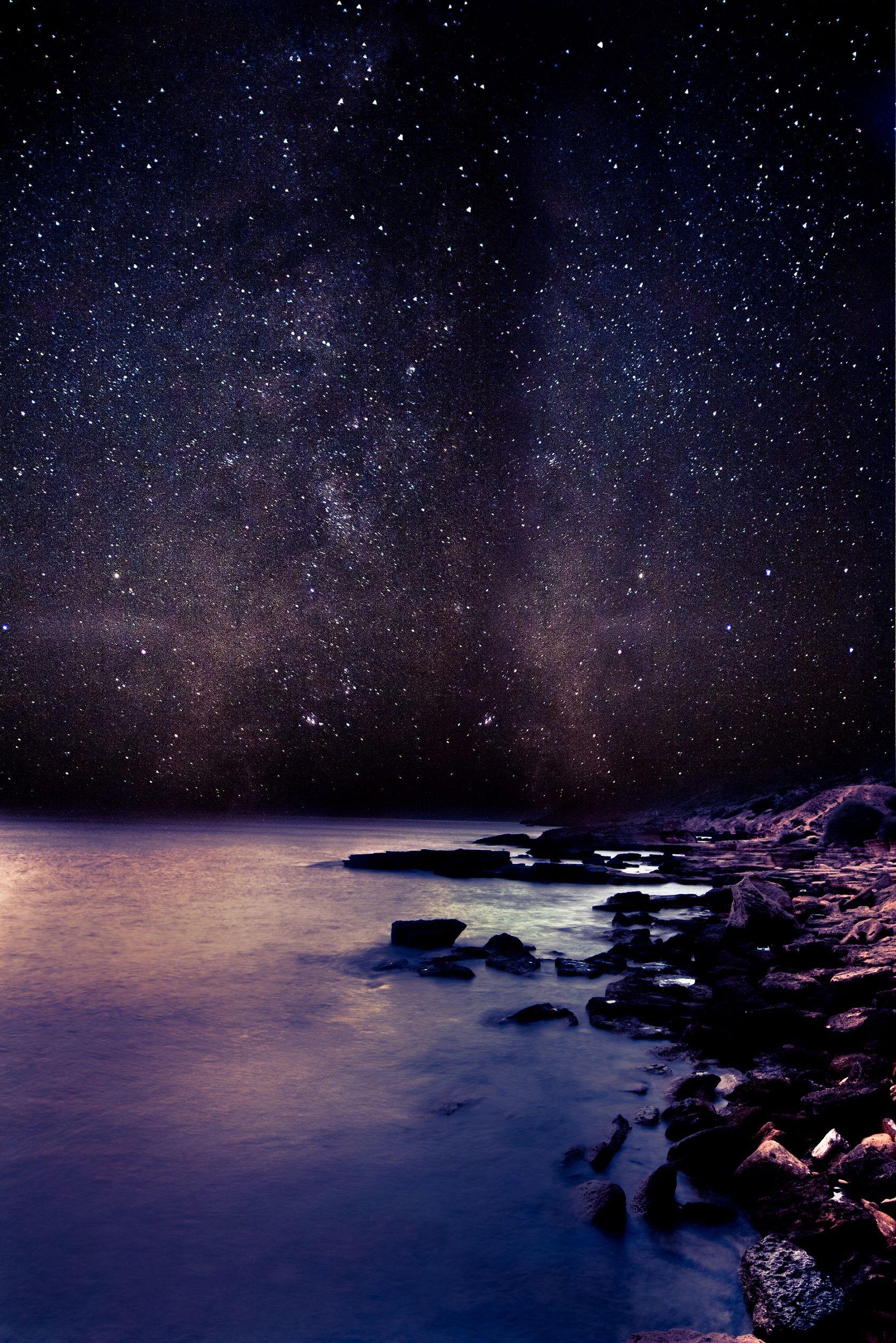 Beautiful Night Sky Wallpaper Hd