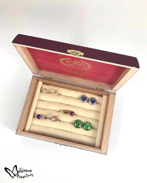cufflink box cigar box cufflink display jewelry box tie clip box