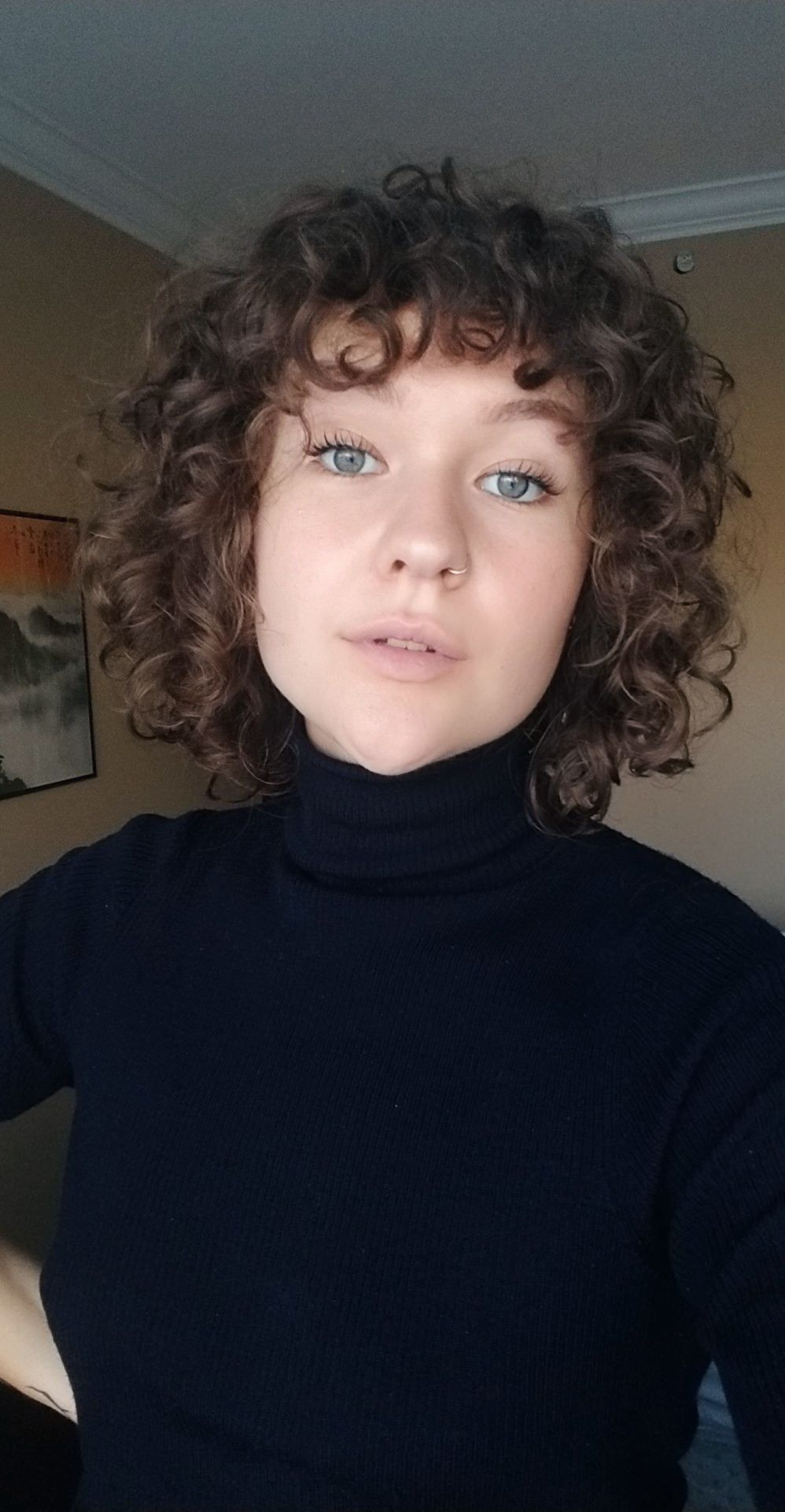 Curly fringe rarely ever cooperate, but today they