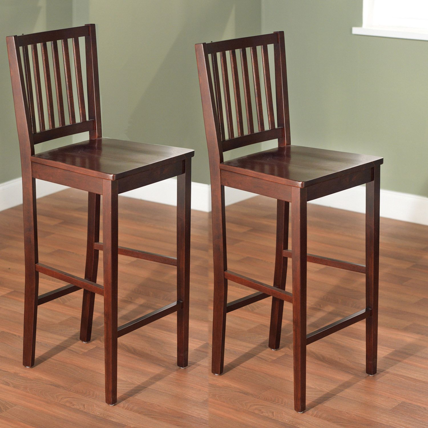 Simple Living 30-inch Shaker Bar Stools (Set of 2) by Simple Living ...