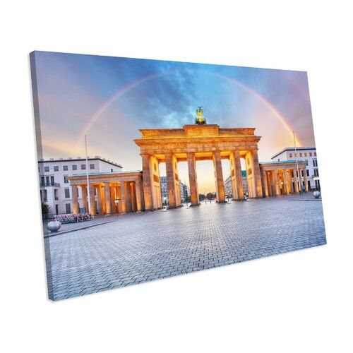 Berlin Brandenburger Tor Regenbogenstadt Foto Auf Leinwand Modernmoments Grosse 32 Cm H X 42 Cm B X H X 42 Cm B Rainbow City Canvas Canvas Online