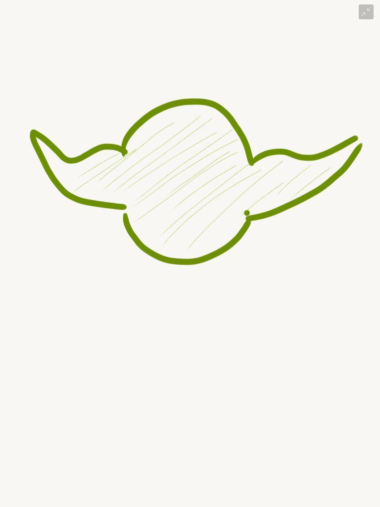 Yoda outline sketch