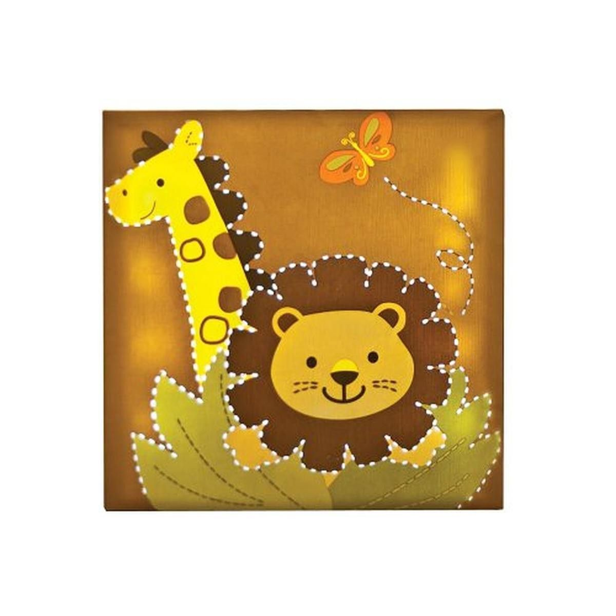 Safari Light Up Giraffe Lion Wall Decor | Wall decor, Giraffe and Lions