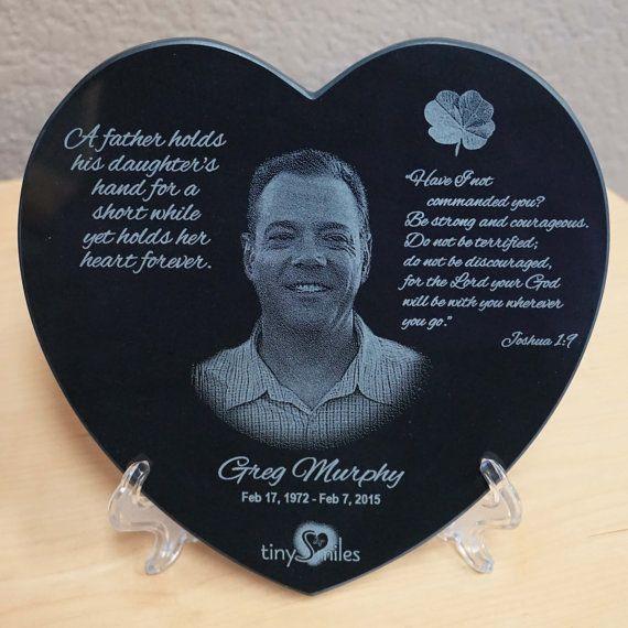 Memorial Photo Heart Black Marble Heart Laser Engraved Etsy Photo Heart Granite Marker Laser Engraving