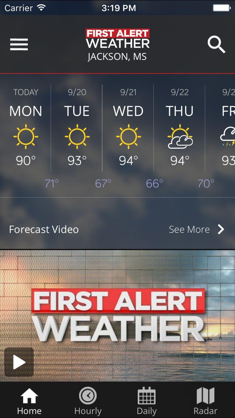 first alert weather app wlbt