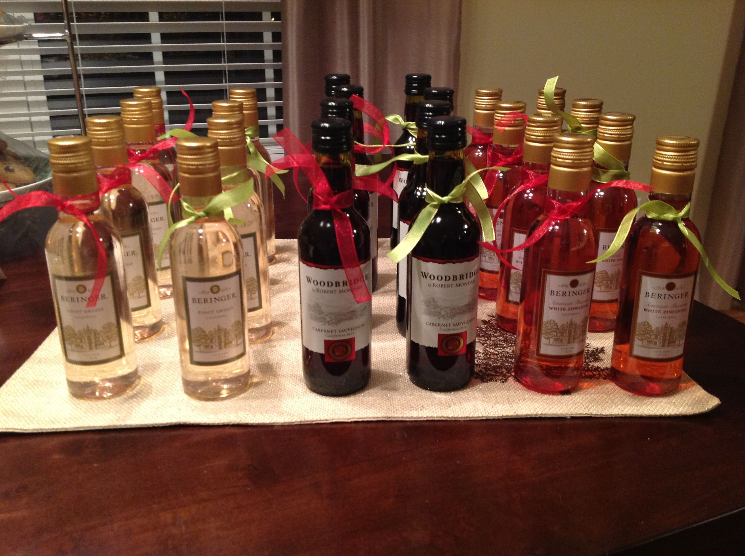 mini wine bottles christmas party favors by nashville