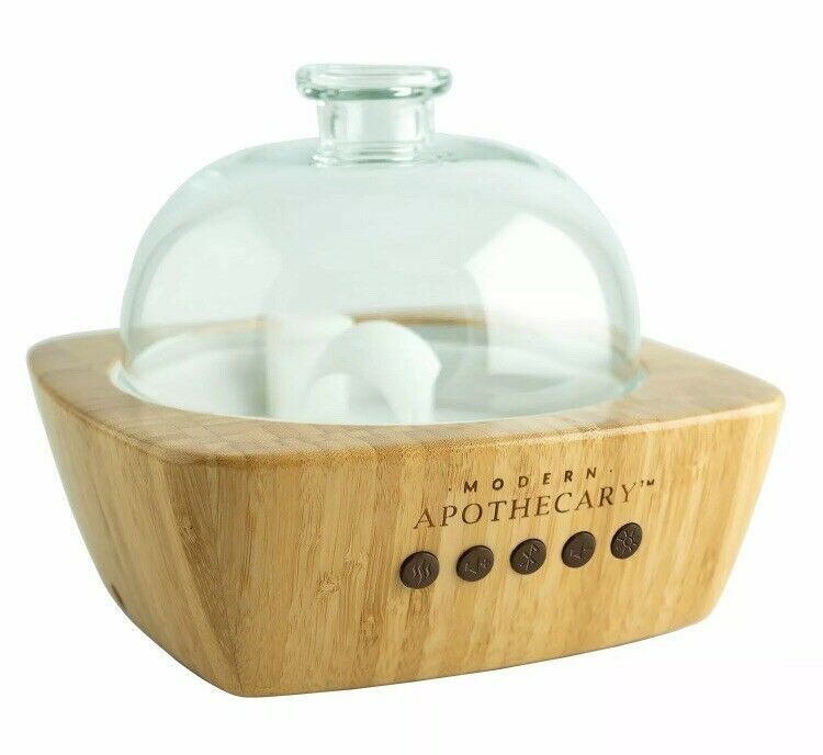Modern Apothecary Ultrasonic Diffuser Bamboo Bluetooth Speaker Led Essential In 2020 Ultrasonic Diffuser Ultrasonic Oil Diffuser Aromatherapy Diffusers Essential Oils