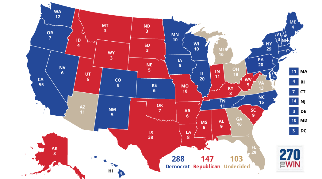 Presidential Election Interactive Map