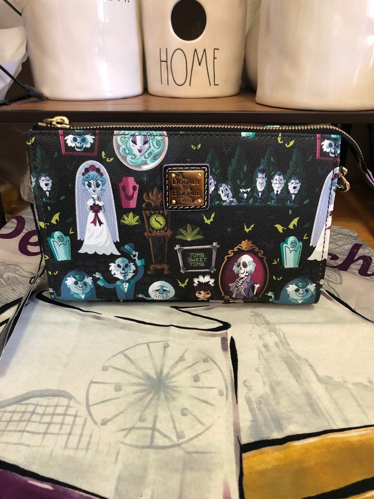 Disney Dooney Bourke Haunted Mansion Crossbody Print Pattern Inspired By The Haunted Mansion Characters Screen Ar Bourke Disney Dooney Dooney Bourke
