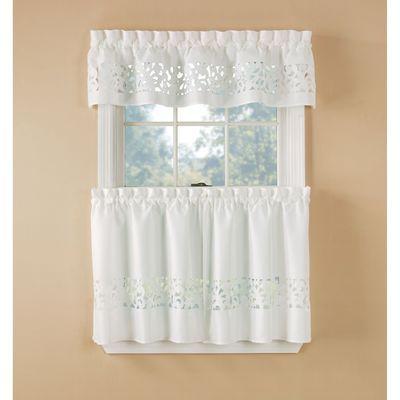 white valances | white tier curtains | sears | white