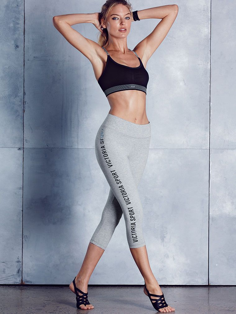 4bc9a9fb138ab Candice Swanepoel - The Everywhere Capri - Victoria s Secret Blue Skinny  Pants
