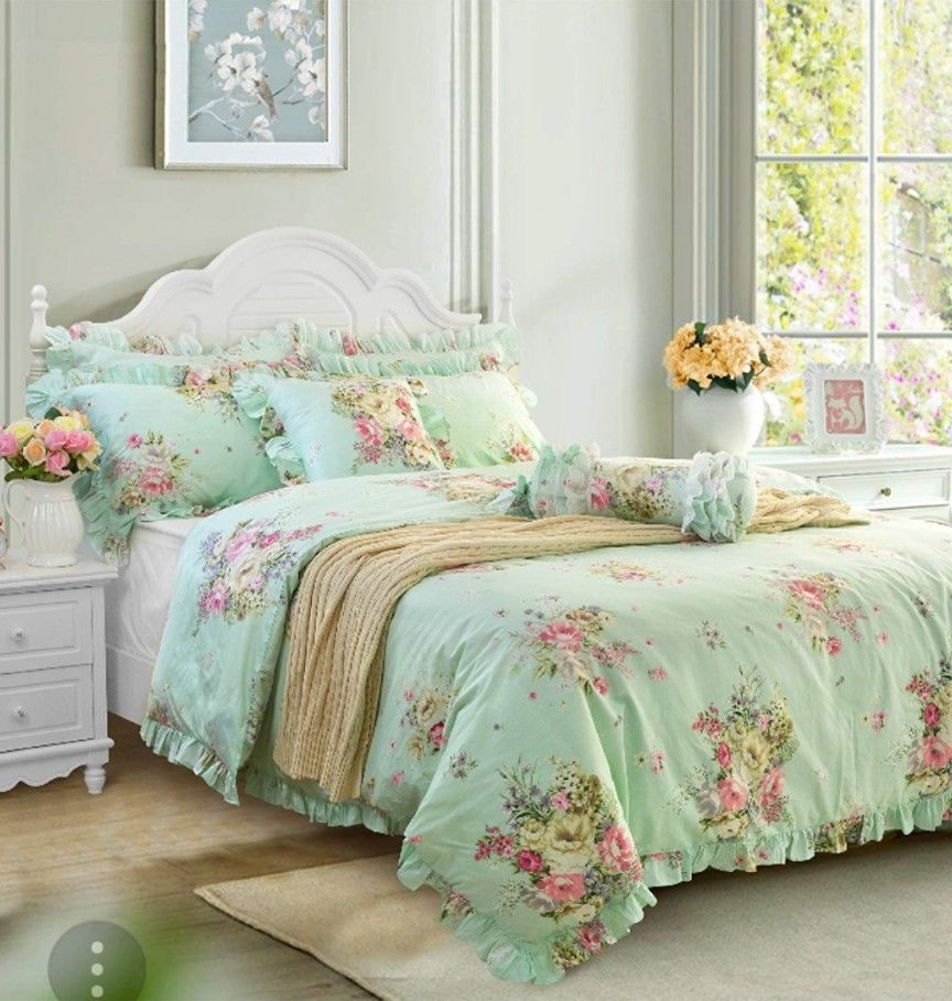 Shabby Chic Floral 3 Piece Duvet Twin Size Hydrangea Floral Rose Bedding New Fadfay Frenchcountryshabbyc Luxury Bedding Sets Designer Bedding Sets Bed Design